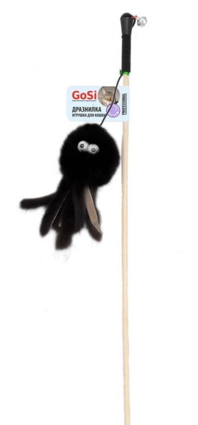GoSi Игрушка для кошек Махалка Осьминог натуральная норка этикетка флажок