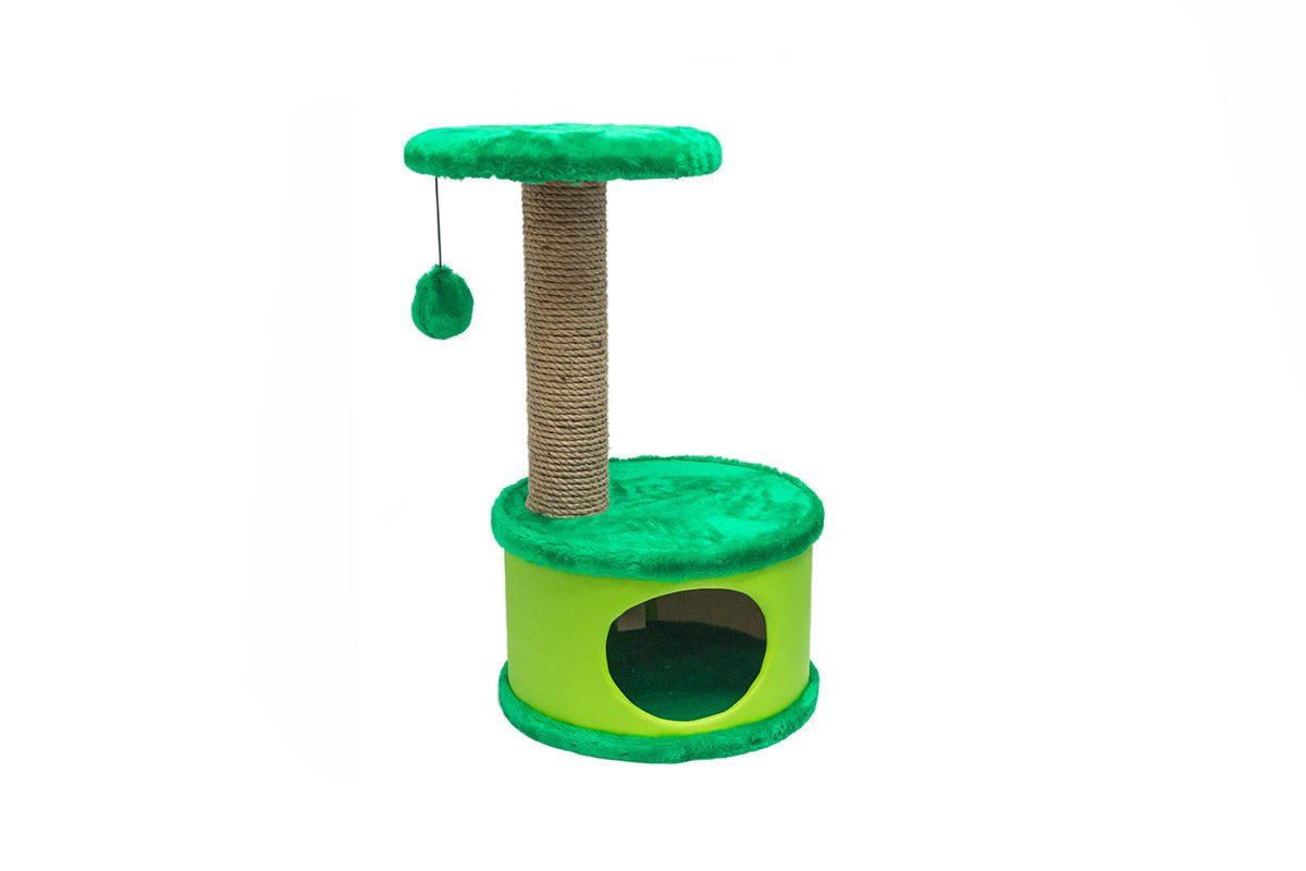 Дарэлл 81105 Домик-когтеточка Конфетти круглый, зеленый  37*37*h73см