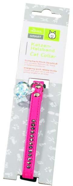 Hunter Smart ошейник для кошек со стразами Modern Luxus кожзам розовый