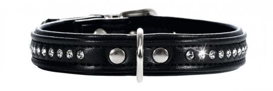 Hunter Smart ошейник для собак Modern Luxus 27/11 (20-23,5 см) черный кожзам, стразы