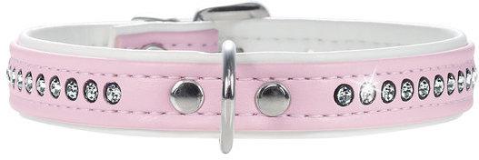 Hunter Smart ошейник для собак Modern Luxus 42/13 (32-38 см) кожзам 1 ряд страз розовый