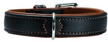 Hunter ошейник для собак Canadian 65 (50-56 см) кожа лося черный/коньячный