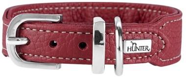 Hunter ошейник для собак Cannes Mini 32 (23-27,5)/2,5 см натуральная кожа бордовый