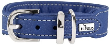 Hunter ошейник для собак Cannes Mini 32 (23-27,5)/2,5 см натуральная кожа синий