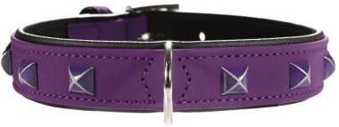 Hunter ошейник для собак Softie Kairo 45/2,8 (32-40 см) кожзам, фиолетовый/черный