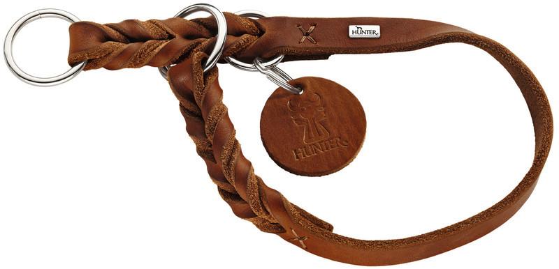 Hunter ошейник-удавка для собак Solid Education 55/1,8 (45-50 см) кожа, коньяк