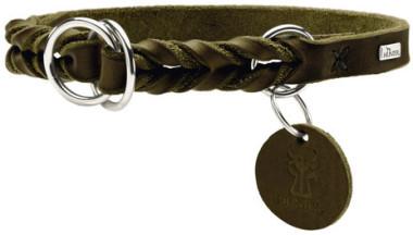 Hunter ошейник-удавка для собак Solid Education 55/1,8 (45-50 см) кожа, оливковый