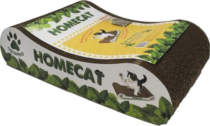 Homecat Когтеточка Мятная волна 41х24х10 см. гофрокартон
