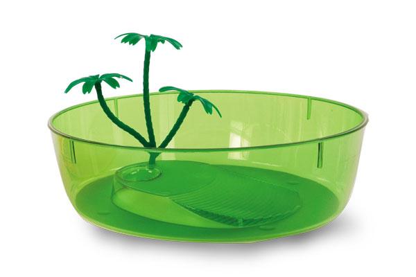 Пластиковая чаша для черепах MP-Bergamo NISIDA MINI (25*25*7cм) 1/16