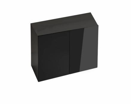 AQUAEL Подставка GLOSSY 80, черная, 2 дверцы ДСП + акриловое покрытие