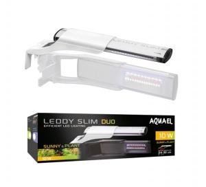 AQUAEL Cветильник для аквариума LEDDY SLIM DUO SUNNY & PLANT 10W БЕЛЫЙ, для аквариума длиной 24-50 см