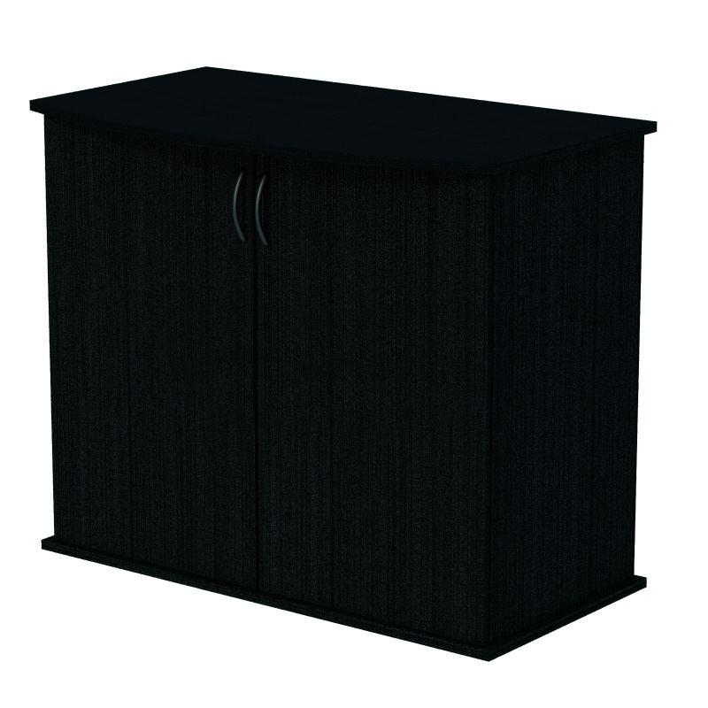 Подставка AquaPlus фигурная 80 (810*360*720) две дверки ДСП, черная, в коробке