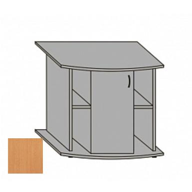 Подставка AquaPlus фигурная 120 с дверкой ДСП, бук, в коробке