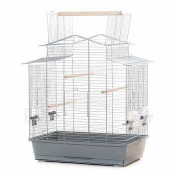 Клетка InterZoo  P-013 IZA III CABRIO ZINC (585х380х650мм), для птиц, прут цинк