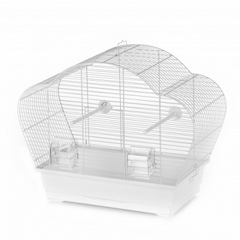 Клетка InterZoo  P-015 BETA WHITE (560х280х450мм), для птиц , прут белый