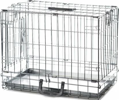 Клетка InterZoo T-01 Dog 1 ZINC (500х300х400), для собак, с одной дверцей, прут цинк