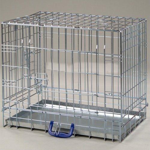 Клетка InterZoo T-03 Dog 3 ZINC (760х530х600), для собак, прут цинк