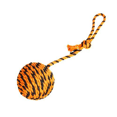 Doglike Мяч Броник средний с ручкой (оранжевый-черный)